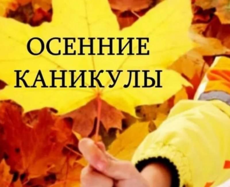 Осенние каникулы для школьников с 23 по 31 октября: в этот период в школах мероприятия с физическим присутствием отменяются