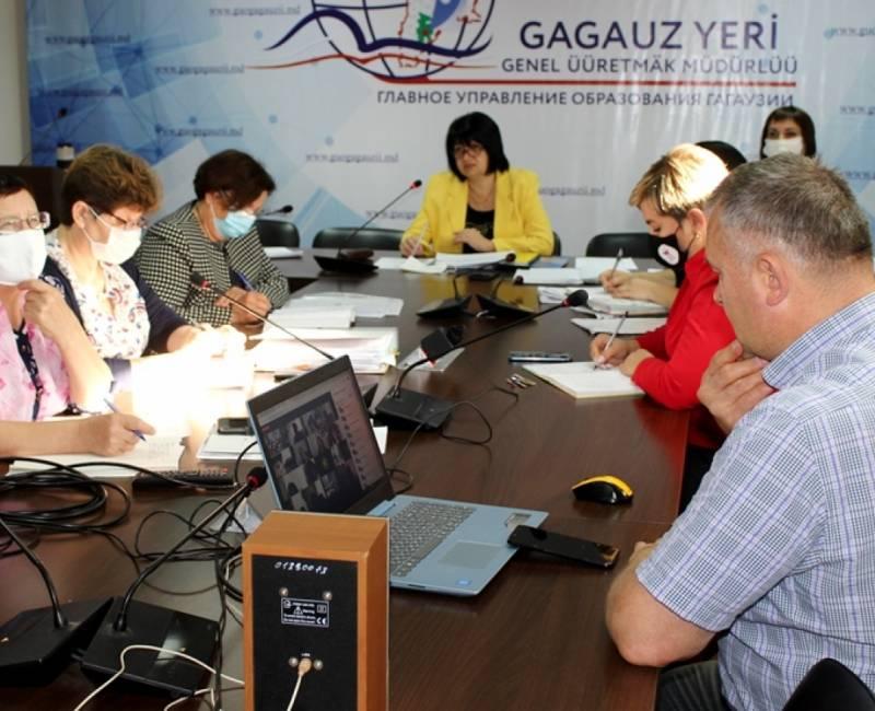 Региональное совещание с директорским корпусом Гагаузии: функционирование школ в контексте эпидемиологической ситуации